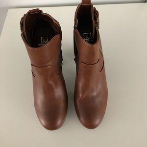 Material Girl - 4inch Cognac Boots